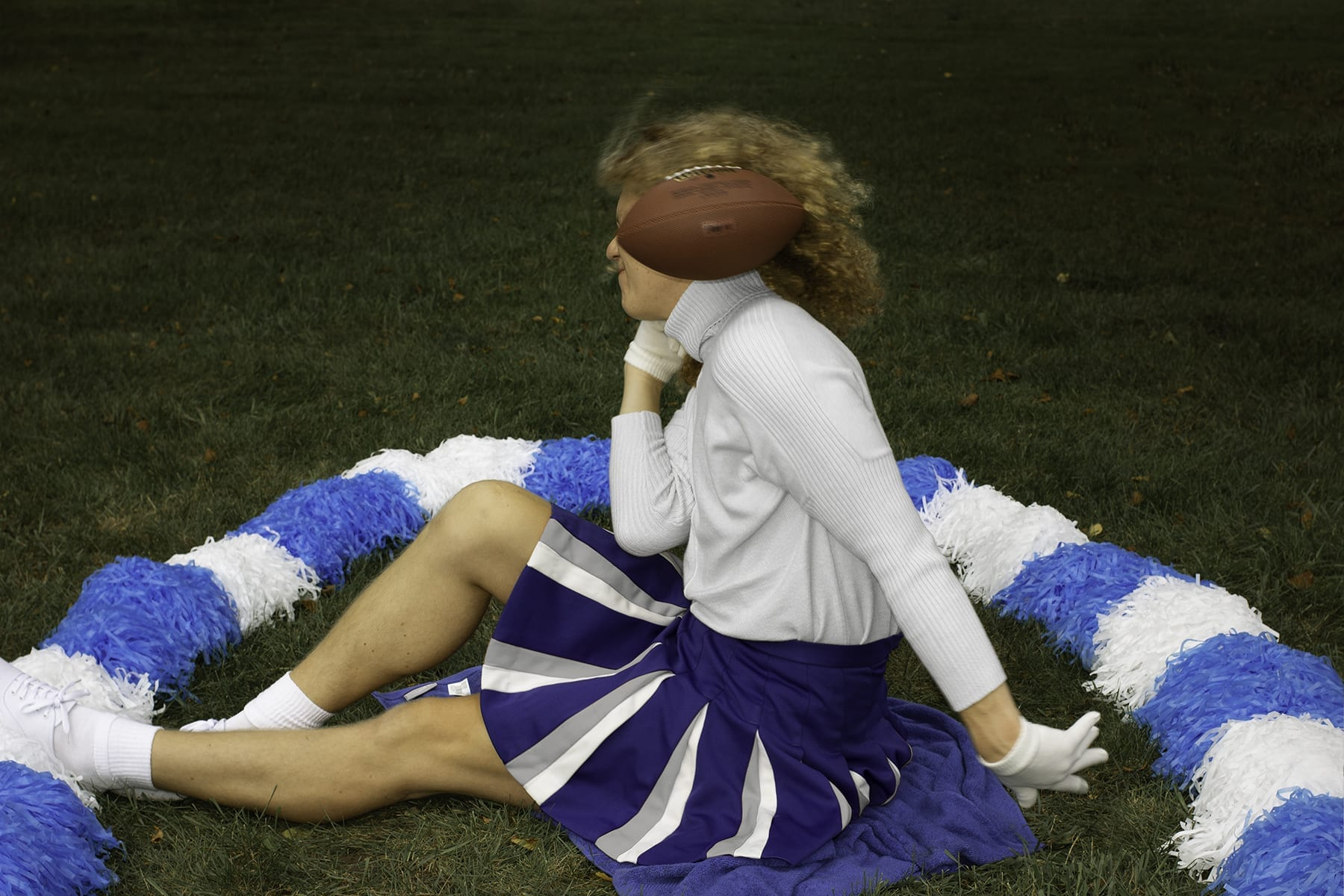 Self Portrait as my Mother as a Cheerleader